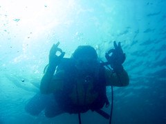 Be Free (aZ-Saudi) Tags: blue sea sky sun water flying friend underwater flight dive deep free scuba diving arabic saudi arabia bubble diver reef ok ksa alhasa          arabin    arabs