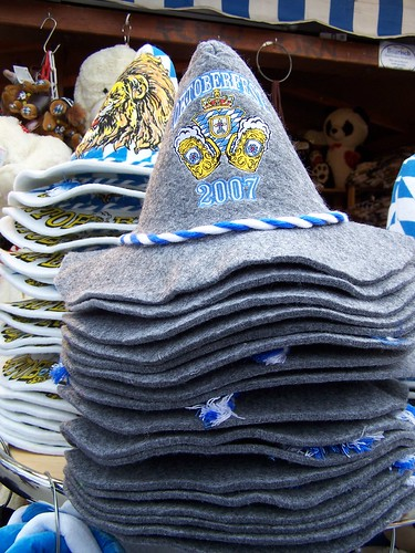 stack of oktoberfest hats