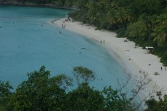Hawksnest Bay (cwgoodroe) Tags: ocean sea summer sun hot bird beach st john island islands bay cool sand ruins surf stjohn heat trunk hawksnest usvi trunkbay