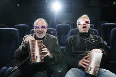 3D Cinema (Eirik Halvorsen) Tags: cinema film norway movie glasses stavanger newspaper 3d hilarious nikon funny comic theatre expression popcorn journalism rogaland pw d300 sb800 sb26 1755mmf28 opticalslave sb28 pocketwizard strobist rogalandsavis