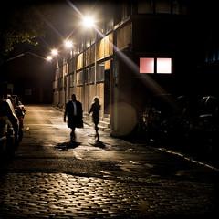 La premire fois o je vous ai vue . II (Thibaut Lafaye) Tags: city night noir walk lumiere deux flare nuit vue nocturne serie rencontre noire marcher cinematographique magicunicornverybest magicunicornmasterpiece