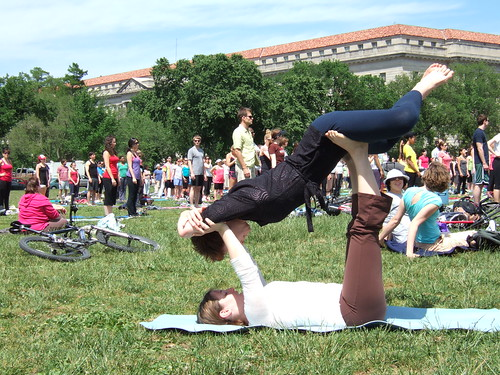 Yoga on the National Mall