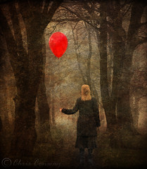 Girl with a red balloon. (Digital Diary........) Tags: red mist girl digital balloon creative dream surreal layers chrisconway