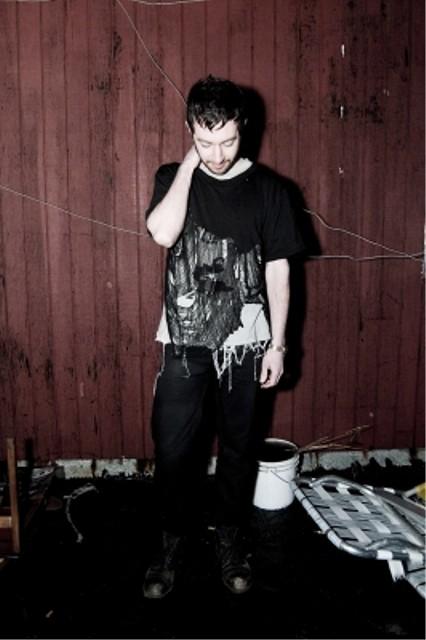 CMRTYZ half shredded black t-shirt 3