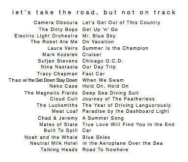 summer road trip themed mix!