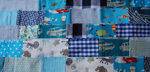 WIP patchwork blanket 2010 june 25