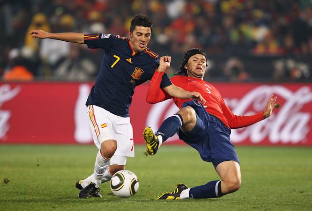 Mundial de Fútbol España versus Chile