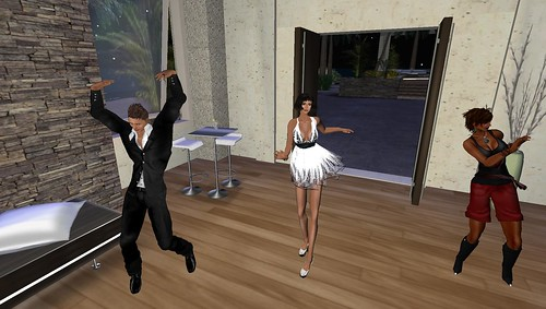 xavier, raftwet and bobbie in second life