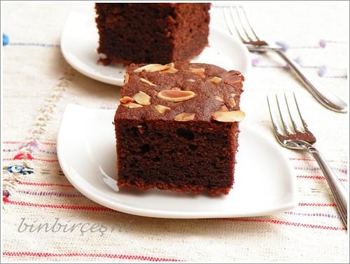 çikolata pudıngli kek