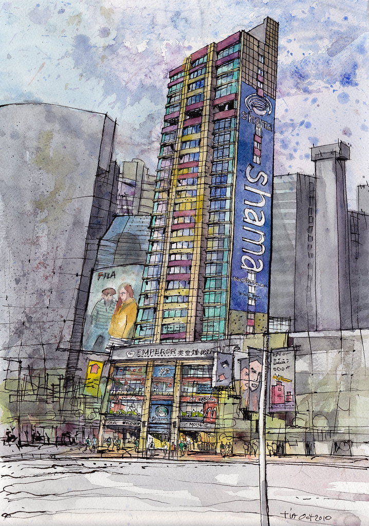 Building Illustration in Hong Kong