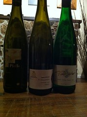 two rielsings and a gruner...