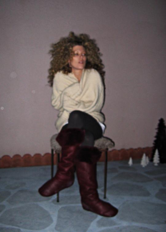 big afro from sponge rollers+dark