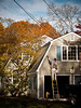 The painting painter (sjmgarnier) Tags: november trees people usa house man architecture clouds painting newjersey paint garage sunny bluesky painter princeton ladder 2010 newjerseyusa princetonnewjersey colorstreetphotography
