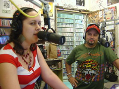 Louie Vega live on The So Very Show, ms.angel on the left