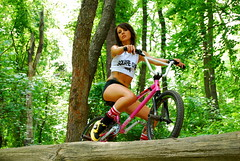 """Completed """"cropped"""" photo. Nicole Lee for Square one Bmx-not cropped for add. (blah blah photos...blah blah blah) Tags: pink girls pierced woman brown white black hot tree green girl look bike bicycle female work bug out photo log eyes woods nikon bmx sticker pittsburgh all cyclist ride general cut suicide trails ella bugs riding saturation cropped handlebar decal zack tatoo workout fitness fit sabbath mirra squareone suicidegirl cranks burgh pedels neverrest nikond40x d40x nicoleleesuicide hometownpride sporcket"""