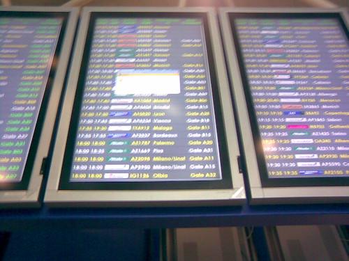 Rome FCO departures / Partenze a Roma Fiumicino