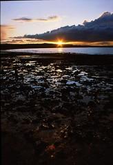 Sunset Harbour (Mark Waldron) Tags: ireland sunset dublin cloud film 35mm lens harbour 28mm slide fujichrome praktica skerries mtl50