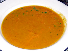Sweet Potato-Andouille Soup