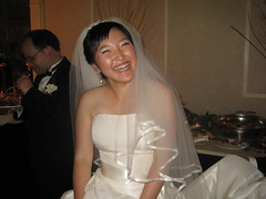 Cha-Eun Koo in her wedding dress
