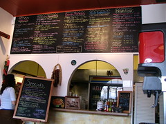 the menu board and where you order