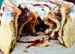 upclose on a Cinnabon cinnamon roll (Fuzzy Traveler) Tags: dessert cinnamon sugar pastry icing creamcheese brownsugar cinnabon cinnamonroll