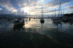 Piraeus_morning_calm (spicros78) Tags: sea clouds sunrise canon relax boats watch piraeus sunrising canon17404l canon5dclassic