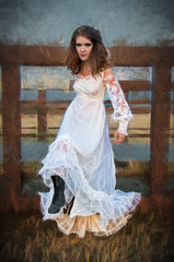 Break Out (djking) Tags: park woman canada calgary alberta weddingdress combatboots muagethynprior kaitlynnicole mm3661485