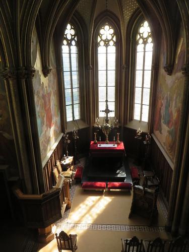 Chapelle du château de Stolzenfels (XIXe), Coblence, Rhénanie-Palatinat, Allemagne.