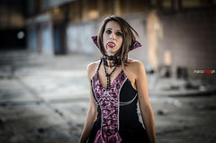 DSC_6628 (Marco Frig Photographer) Tags: girls red urban black halloween work project dark costume nikon artist factory vampire story horror diaries vampiri