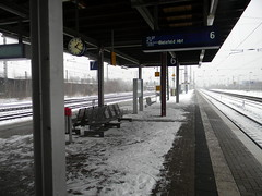 train station Herford Germany 26th January 2014 snow  26-01-2014 12-23-44 (dennoir) Tags: snow station train germany january herford 26th 2014 122344 26012014