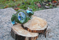 Flower elf_6 (~Gilven~) Tags: flowers blue green leaves forest linen embroidery jewelry elf bracelet swarovski foggyforest swarovskipearl
