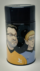 An Event Apart 2013 limited edition thermos; illustration by Kevin Cornell  with Eric Meyer. (Jeffrey) Tags: white studio design office january lunchbox seamless tabletop memorabilia thermos ericmeyer meyerweb aea 2016 bearskinrug aneventapart 2013 aneventapartcom meversole aspaceapart