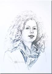 Schnellportrt - Weener -Dld (creating more portraits...) Tags: portrait deutschland chalk kunst crayon papier weener zeichnung krijt kreide gezeichnet getekend snelportret schnellportrt