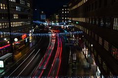 Stockholm City (photoben37) Tags: traffic lightsaft neon atumn night kungsgatan stockholm