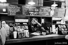 Confused (orgazmo) Tags: seattle monochrome blackwhite washington sony starbucks pikeplace sonyalpha a6000 sel1018 1018mmf4oss