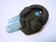 DSCN2665 (LynzCraftz) Tags: art necklace handmade spirit oneofakind goddess polymerclay resin arrowhead pendant amulet renaissancefair swellegant