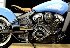 Indian Motorcycle (Sky Solar) Tags: road park street blue summer motion bike wheel race speed vintage drive movement driving indian perspective engine fast racing chrome transportation motorcycle motor tuning luxury motortransport goingspeeding spinspining sportssilver