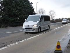 GM14 YNE (Cammies Transport Photography) Tags: road england bus mercedes benz scotland coach edinburgh rugby v specials unmarked corstorphine sprinter yne gm14 gm14yne