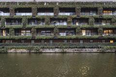 14.49, London (Ti.mo) Tags: england plant building green london architecture canal apartments january gb hackney f25 25mm 2016 0ev iso2000 ••• ¹⁄₁₂₅secatf25 e25mmf2 middletonroadkingslandrdstopkh