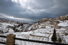 Bcharre in Snow (jrseikaly) Tags: winter sky lebanon snow storm clouds landscape jack photography town high cityscape village dynamic north valley range arz hdr cedars bcharre qadisha seikaly jrseikaly