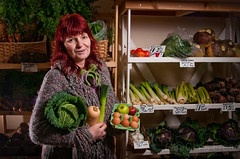 Diana-The-Grocer-2 (Chris Frear) Tags: uk vegetables shop fruit scotland nikon january business veg dumfries shopkeeper 2016 businesswoman sb800 d90 portrati nithsdale strobist griocer offcameraflashchrisfrearbutterfield