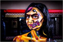 Zombie pop art - Artist : Kate Monroe, Model : Vicky Watson (Digital-Mechanic.com) Tags: art fighter zombie cage pop bodypaint boxer octagon mma zombiepopartartistkatemonroe modelvickywatson