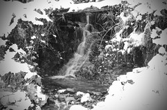 Melt Water (J @BRX) Tags: winter blackandwhite bw mountain snow water landscape scotland nationalpark slowshutter cobbler lochlong argyllandbute lochlomondtrossachs