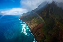 Na Pali Coast Rainbow - Kauai, HI (brandon.vincent) Tags: seascape canon wow landscape hawaii coast rainbow doors mark iii off aerial na helicopter kauai 5d coastline pali mauna loa 1635mm