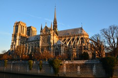 Notre Dame at sunrise (raewynp) Tags: paris france architecture sunrise cathedral gothic notredame spire buttress iledelacite frenchgothic