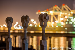 Port of Oakland (kumagai.atsushi) Tags: night turn port oakland nikon cranes buckle manfrotto d700