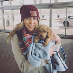 One of Liesel's and Nolan's boys with his new mom after begin picked up at the airport!
