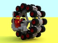 Ferris Wheel (David Roberts 01341) Tags: lego offroad transport rover scifi vehicle minifig buggy allterrain minifigure ldd 886 classicspace multiwheel febrovery bluerender