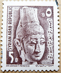 *peace* beautiful stamp Syria 5p (An Ugharit Princess, 1300 B.C.; Prinzessin aus Ugarit 1300 v.Chr.) timbre Syrie, frimrken frmerki Syria     sello selo Siria          blyeg Szria postimerkkej (thx for sending stamps :) stampolina) Tags: beautiful peace princess stamp syria timbre siria  selo syrie sello  frimrken prinzessin  suriye  frmerki pullar ugarit  znaczki szria  postimerkkej 1300bc  syyria  blyeg   znmky   sria ugharit 1300vchr