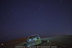 A night in the desert !! (C@MARADERIE) Tags: cars horizontal night star nocturnal desert nopeople riyadh saudiarabia saudia desertwilderness